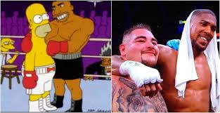 anthony joshua andy ruiz jr simpsons sketch